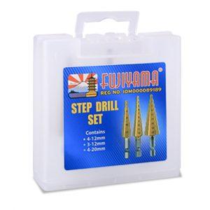Step Drill Set 4-12mm, 3-12mm, 4-20mm